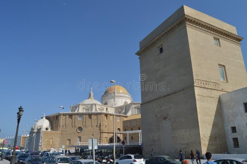 Mooie Koepel van de Kathedraal van Cadiz royalty-vrije stock foto's