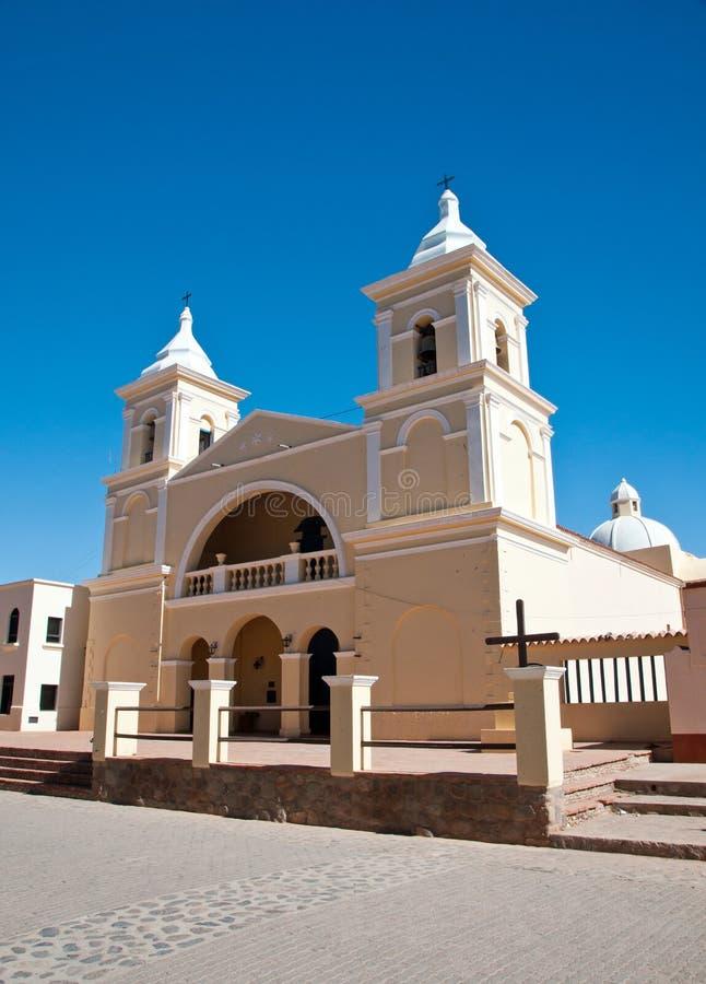 Mooie koloniale kerk in Argentinië stock fotografie