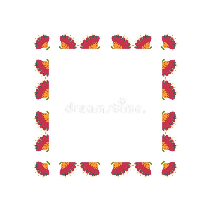 Mooie kroon Elegante bloemen getrokken kaderhand Ontwerp voor uitnodiging, huwelijks of groetkaarten royalty-vrije stock foto