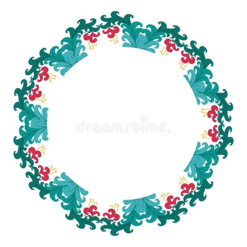 Mooie kroon Elegante bloemen getrokken kaderhand Ontwerp voor uitnodiging, huwelijks of groetkaarten royalty-vrije stock fotografie