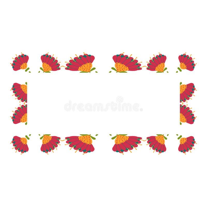 Mooie kroon Elegante bloemen getrokken kaderhand Ontwerp voor uitnodiging, huwelijks of groetkaarten stock foto