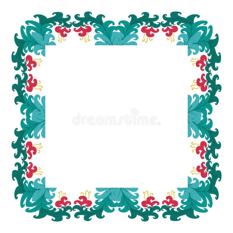 Mooie kroon Elegante bloemen getrokken kaderhand Ontwerp voor uitnodiging, huwelijks of groetkaarten royalty-vrije stock afbeelding