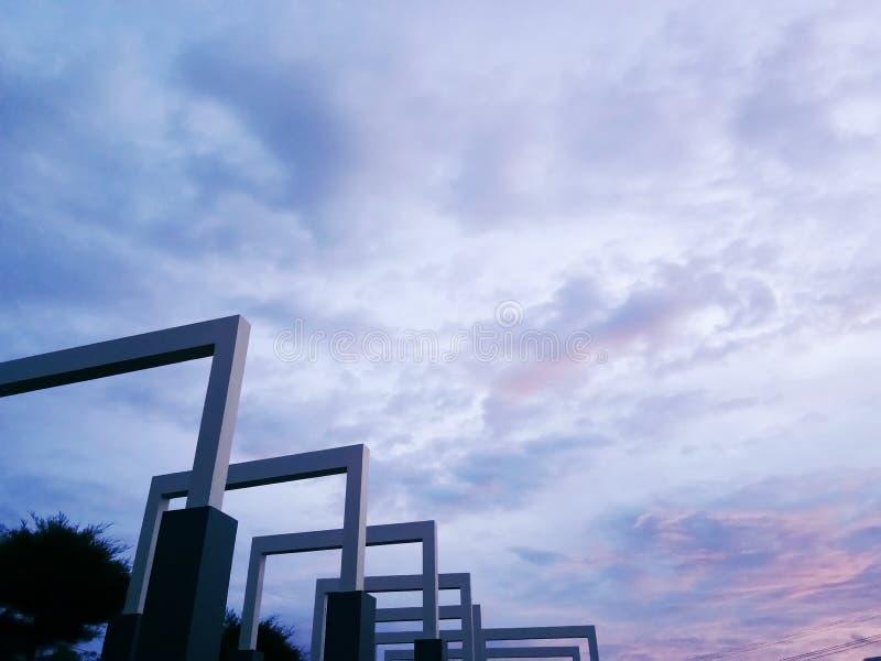 Mooie kunst van architectuur in het Universitaire park van Tadulako royalty-vrije stock afbeeldingen