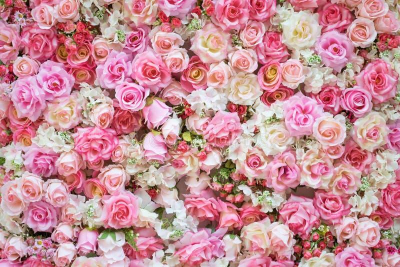 Mooie kunstbloemen voor achtergrond royalty-vrije stock afbeeldingen