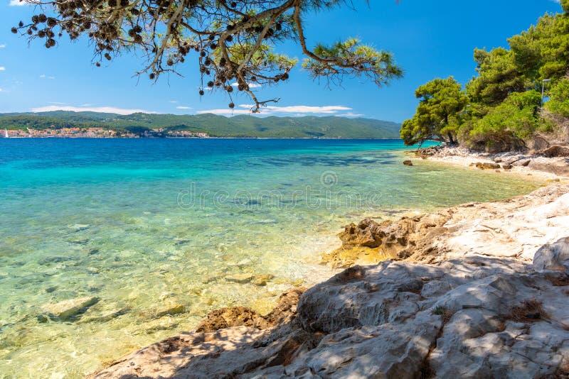 Mooie kust in Dalmatië, Kroatië royalty-vrije stock afbeeldingen