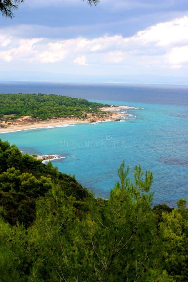 Mooie kustlijn in Griekenland royalty-vrije stock fotografie