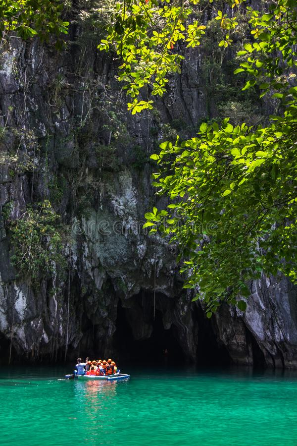 Mooie lagune, het begin van langste bestuurbare ondergrondse ri royalty-vrije stock foto