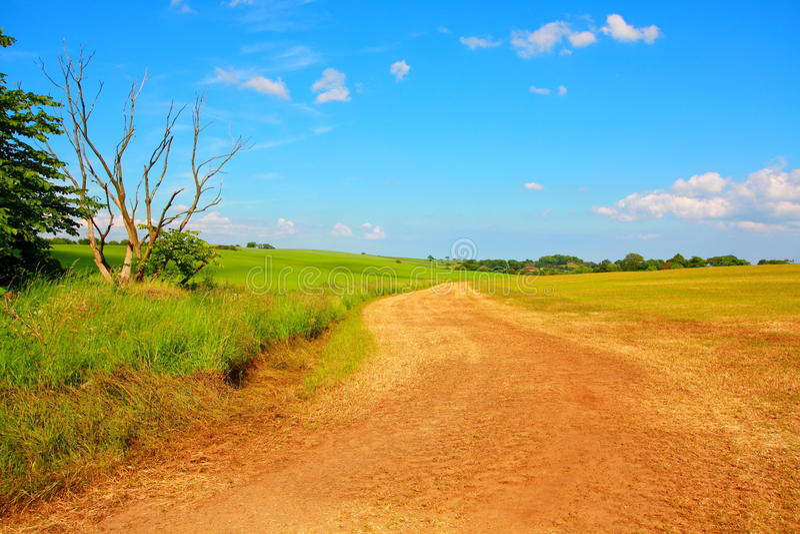 Mooie landelijke weg stock fotografie