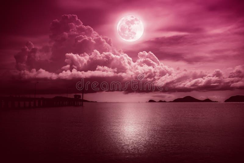 Mooie landschapsmening van het overzees  Sereniteitsaard royalty-vrije stock fotografie