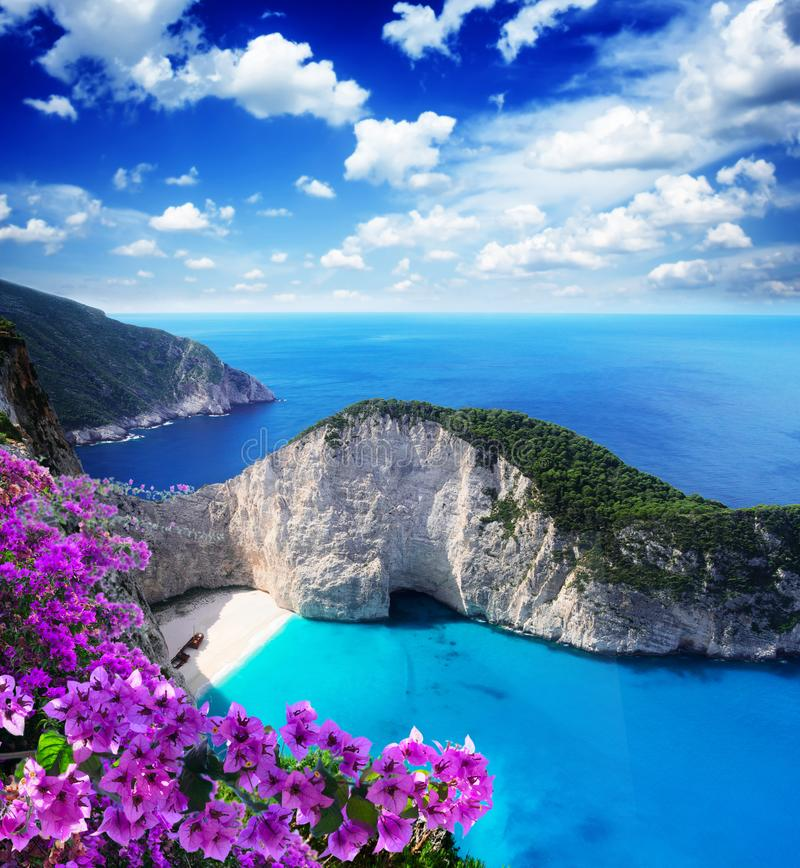 Mooie lanscape van Zakinthos-eiland stock afbeelding
