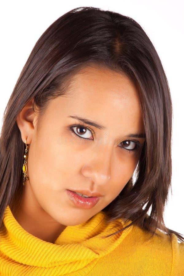 Mooie Latijnse brunette stock foto