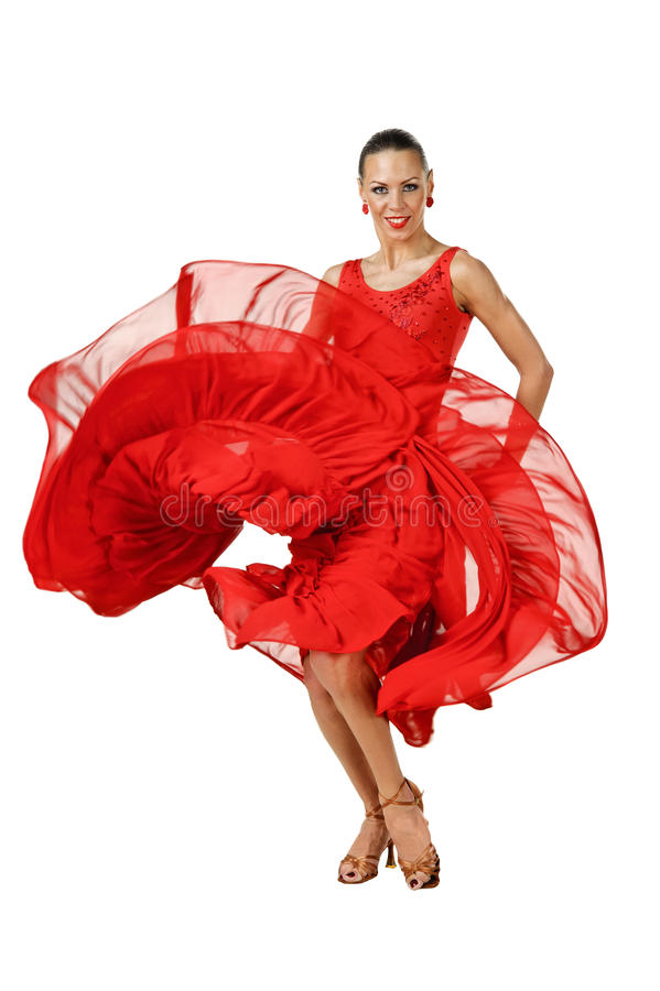 Mooie Latino danser in actie royalty-vrije stock foto