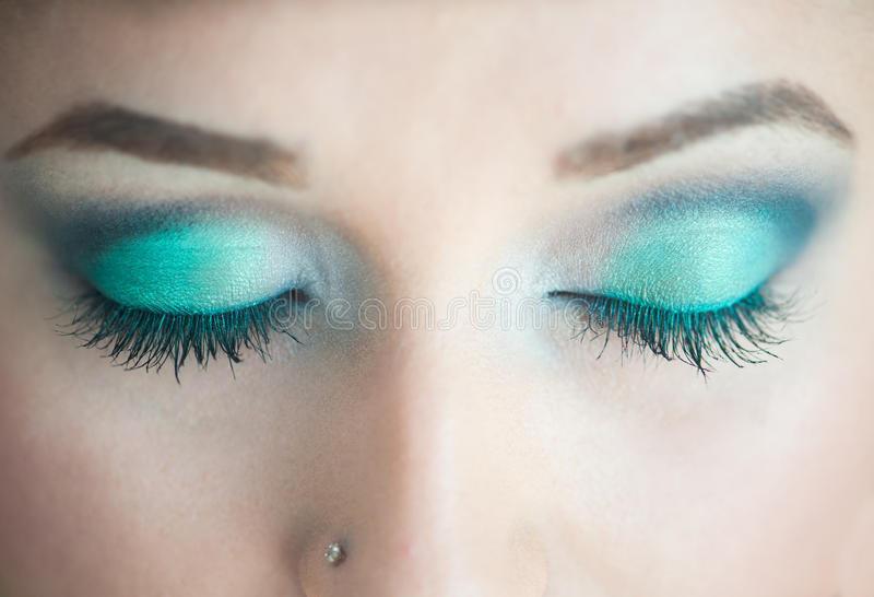 Mooie make-up stock afbeelding