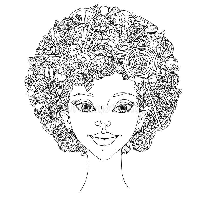 Mooie manier zoete vrouwen royalty-vrije illustratie