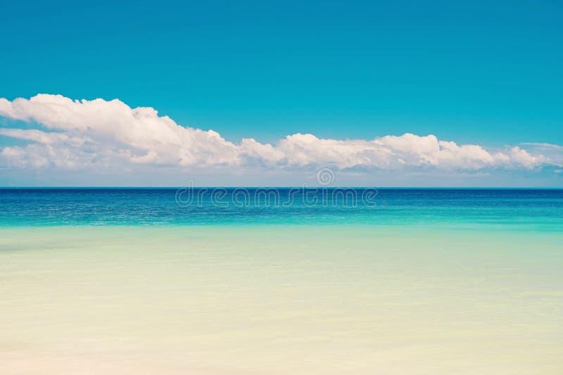 Mooie mariene mening over Caraïbische overzees stock fotografie