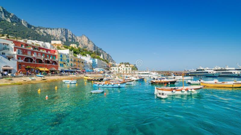 Mooie Marina Grande, Capri-Eiland, Italië stock fotografie
