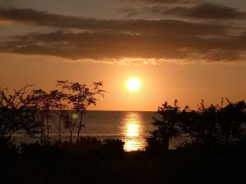 Mooie Marinduque-Zonsondergang stock foto's