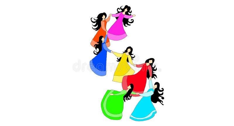 Mooie meisjesdansen royalty-vrije stock foto