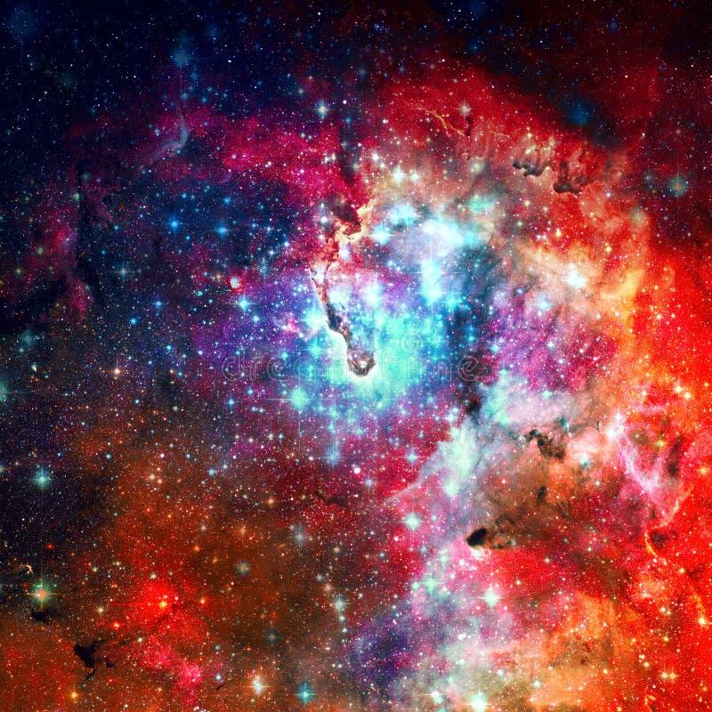 Mooie melkweg Elementen van dit die beeld door NASA wordt geleverd royalty-vrije illustratie