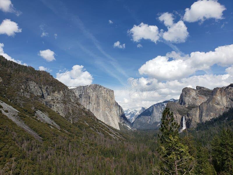 Mooie mening bij Yosemite-park stock foto