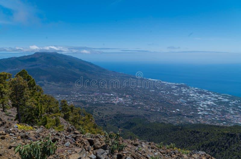 Mooie mening over de westelijke kant van La Palma, Spanje royalty-vrije stock fotografie