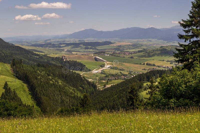 Mooie mening over Liptov-platteland, Slowakije stock afbeelding