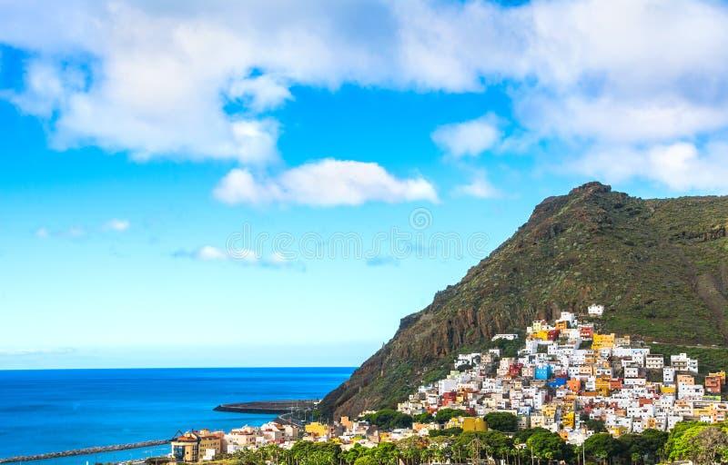 Mooie mening over San Andres dichtbij Santa Cruz de Tenerife in royalty-vrije stock foto