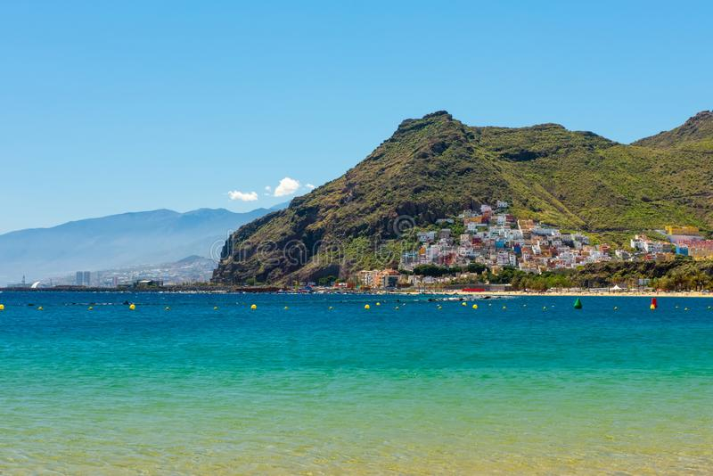 Mooie mening over San Andres dichtbij Santa Cruz de Tenerife Canary Islands, Spanje royalty-vrije stock foto's