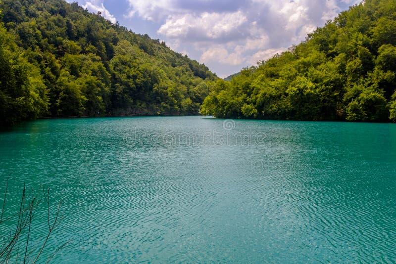 Mooie mening in Plitvice-Meren Nationaal Park Kroatië stock afbeeldingen