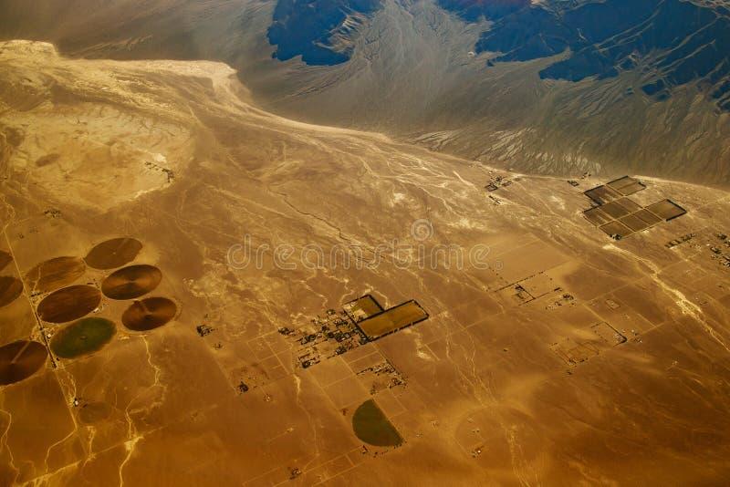 Mooie mening, satellietbeeld van vliegtuig, Las-vegas, Nevada royalty-vrije stock afbeelding