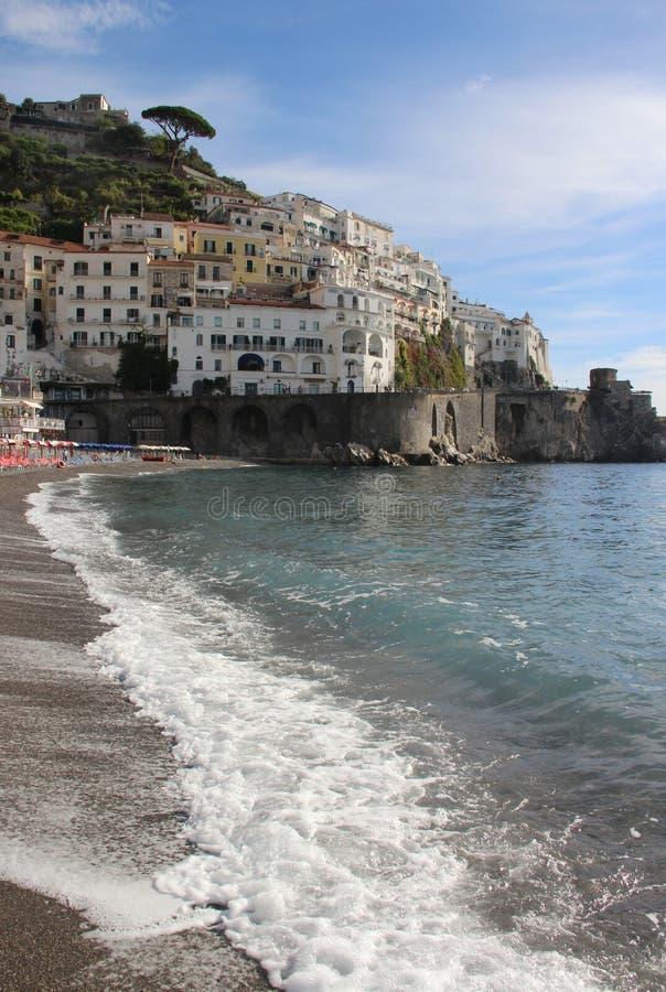 Mooie mening van Amalfi, Italië royalty-vrije stock fotografie