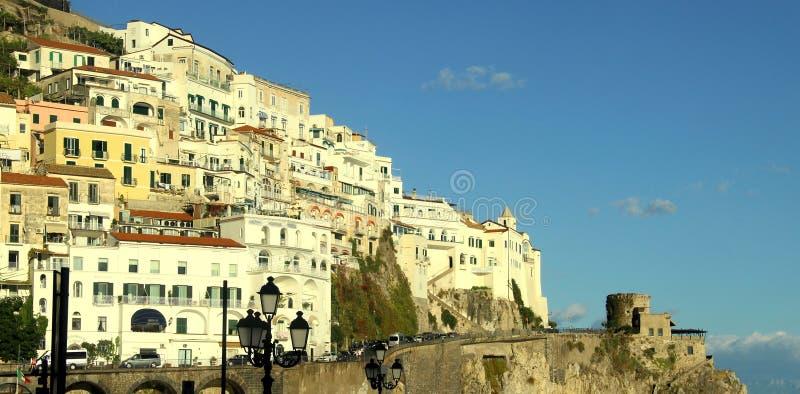 Mooie mening van Amalfi Kust, Italië royalty-vrije stock afbeelding