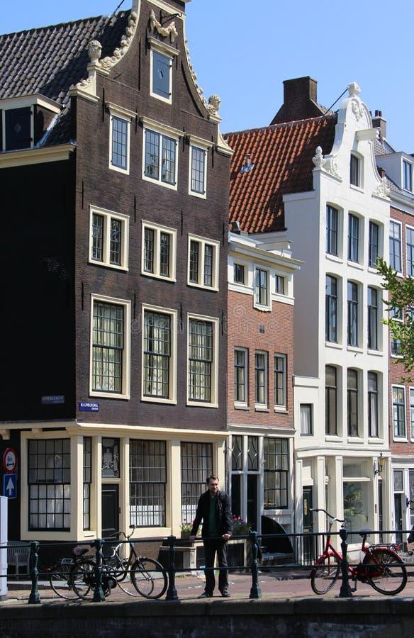 Mooie mening van Amsterdam, Nederland royalty-vrije stock afbeelding