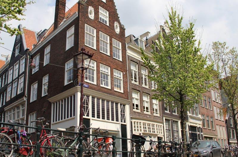 Mooie mening van Amsterdam, Nederland stock foto's