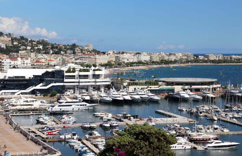 Mooie mening van Cannes, Frankrijk royalty-vrije stock foto