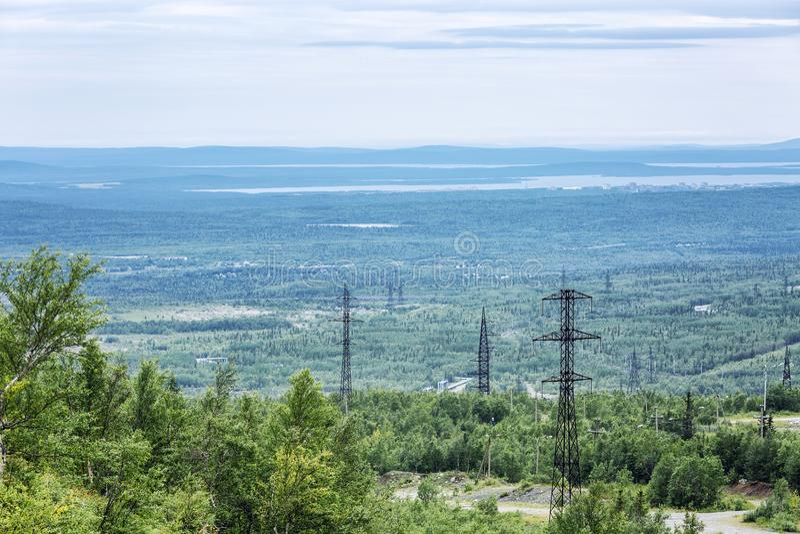 Mooie mening van de bergen, mooi landschap royalty-vrije stock foto