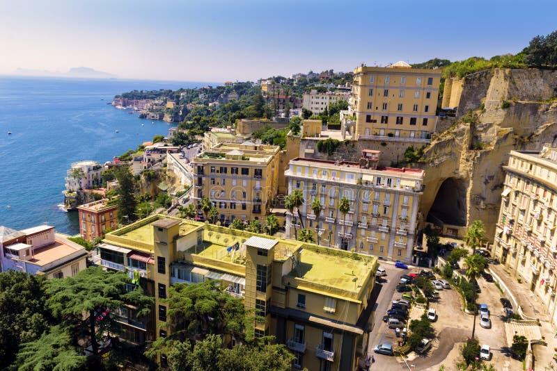Mooie mening van de kust van Napels Italië, Europa stock foto's