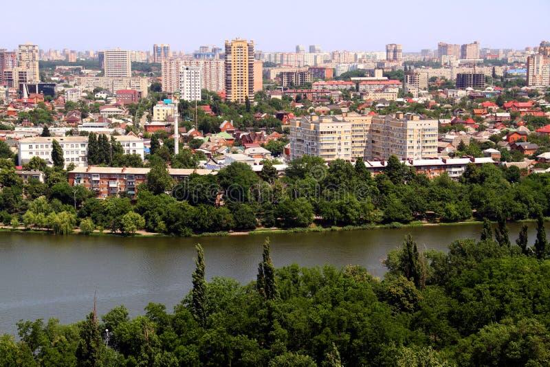 Mooie mening van de stad van Krasnodar stock fotografie