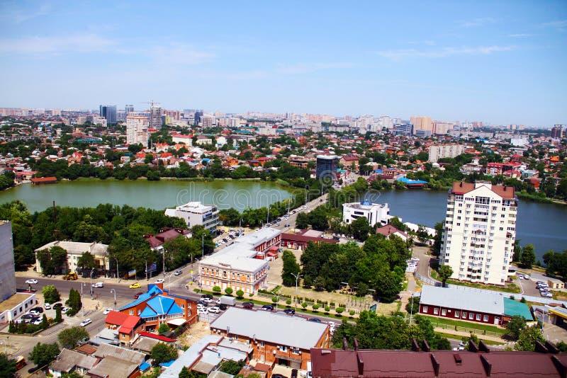Mooie mening van de stad van Krasnodar stock foto