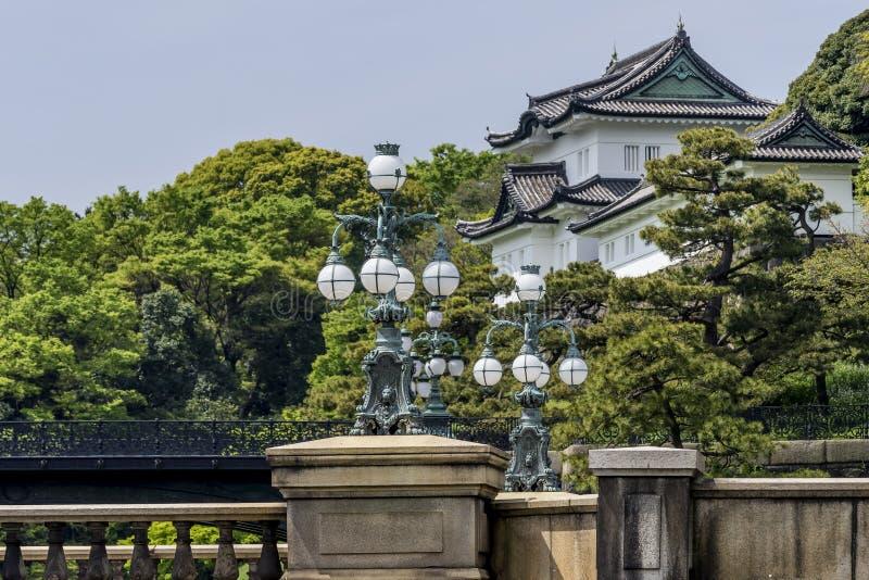 Mooie mening van het Keizerpaleis, Tokyo, Japan royalty-vrije stock foto
