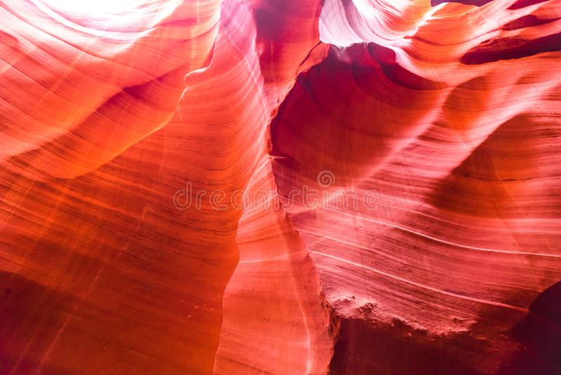 Mooie mening van het zandsteenvormingen van de Antilopecanion in het beroemde Stammen nationale park van Navajo dichtbij Pagina,  royalty-vrije stock foto