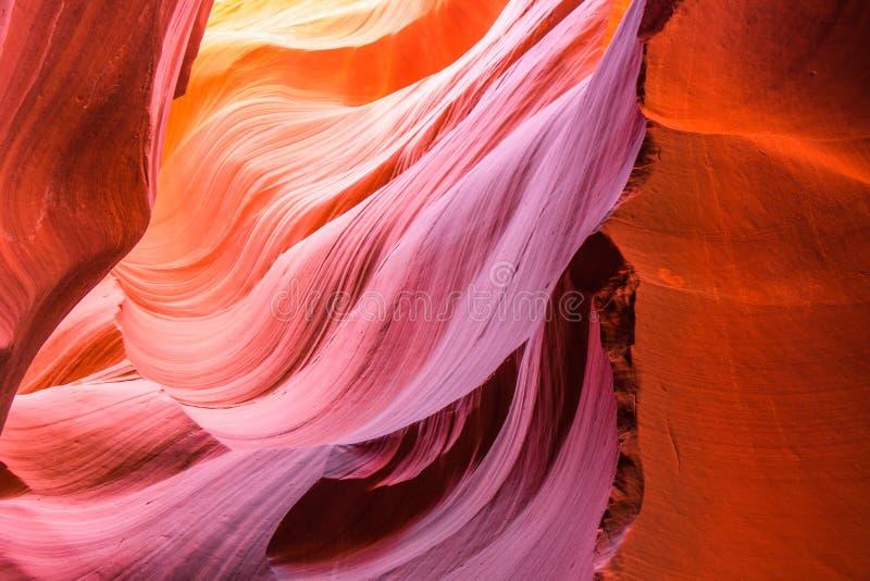Mooie mening van het zandsteenvormingen van de Antilopecanion in het beroemde Stammen nationale park van Navajo dichtbij Pagina,  stock fotografie