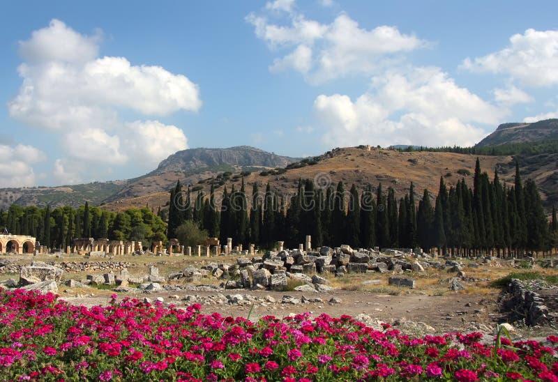 Mooie mening van Hierapolis royalty-vrije stock foto's