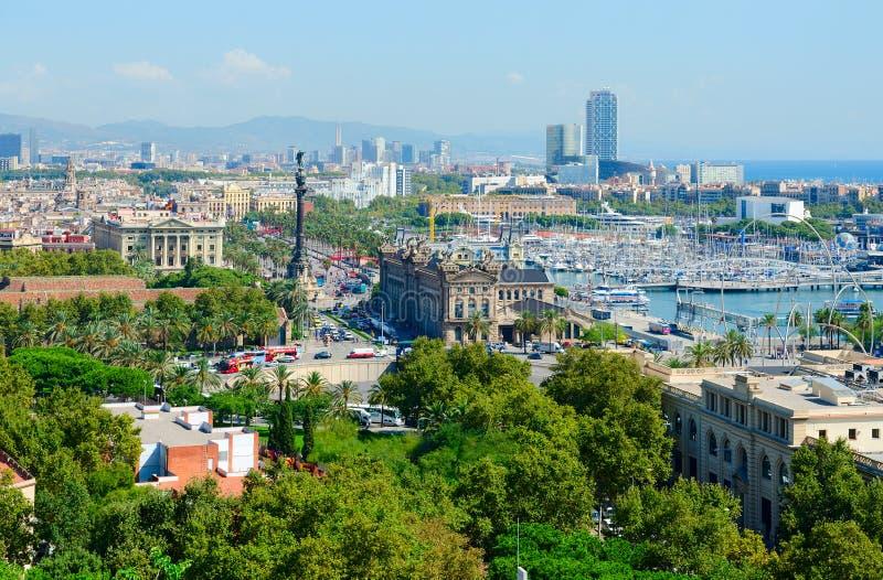 Mooie mening van hierboven van Barcelona, Spanje royalty-vrije stock foto's