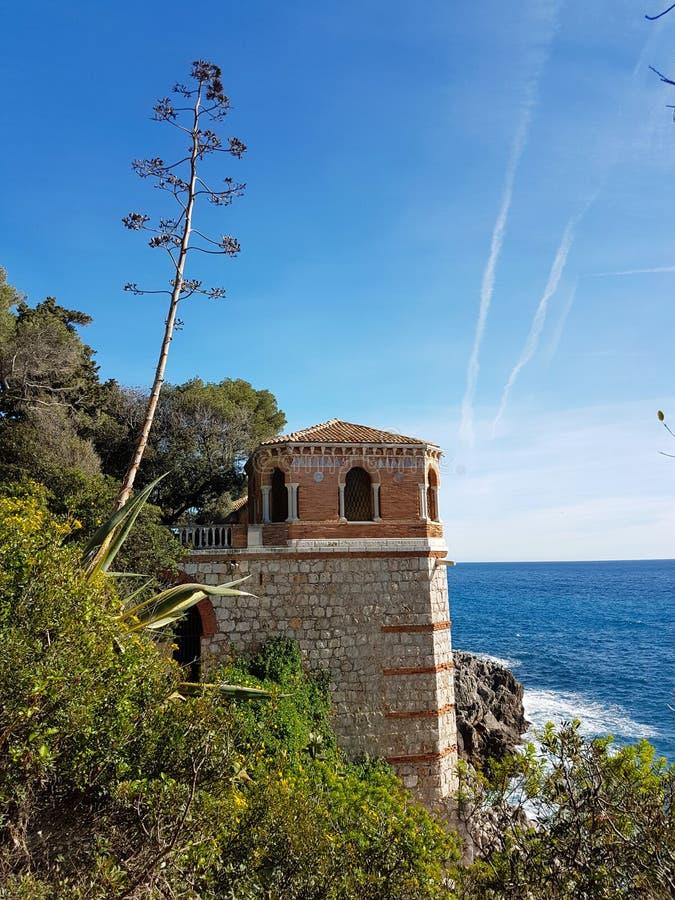 Mooie Mening van Mediterraan Zeegezicht royalty-vrije stock fotografie