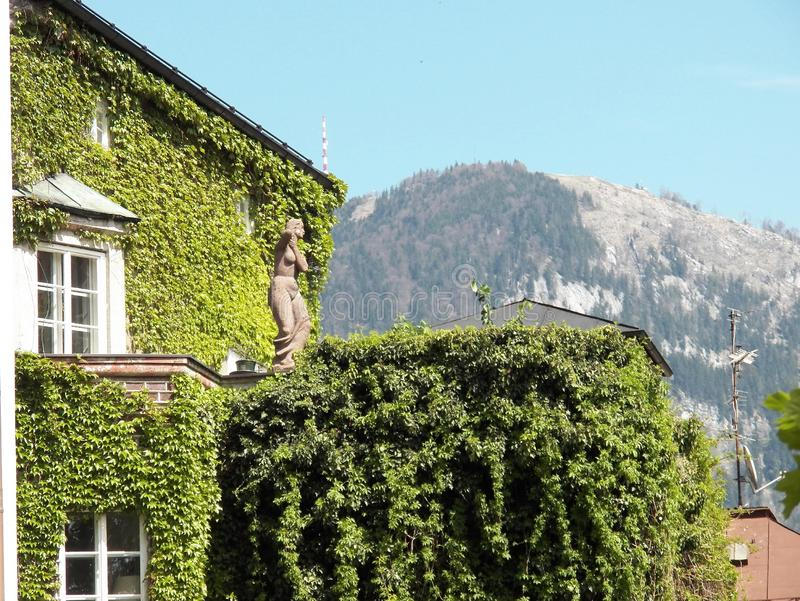 mooie mening van mijn venster in Salzburg royalty-vrije stock afbeeldingen