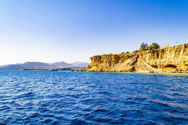 Mooie mening van Naama Bay, Sharm-el-Sheikh, Egypte stock fotografie
