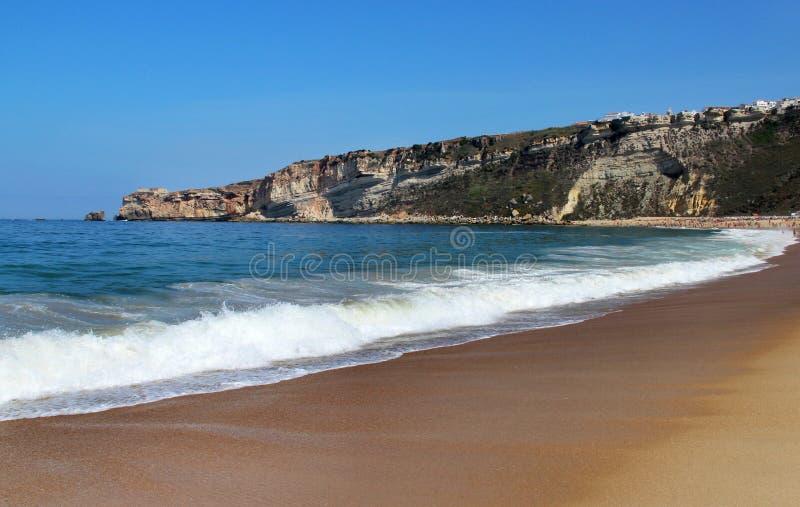 Mooie mening van Nazare, Portugal royalty-vrije stock fotografie