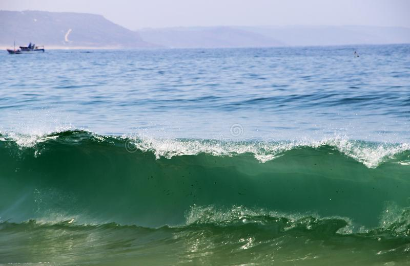 Mooie mening van Nazare, Portugal stock foto's
