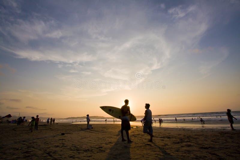 Mooie mening van Pedernales-strand in Manabi stock foto's